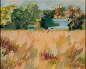 "Private Valley Farm - 8"" x 10"" - Oil on Board"