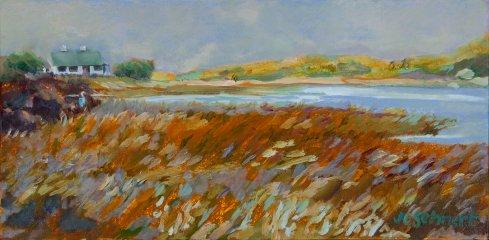 """Irish Scene - 8"""" x 16"""" - Oil on Canvas"""