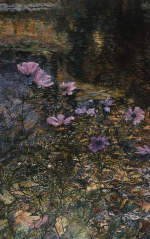 Cosmos in Monet's Garden - SOLD - Dunnegan Gallery of Art